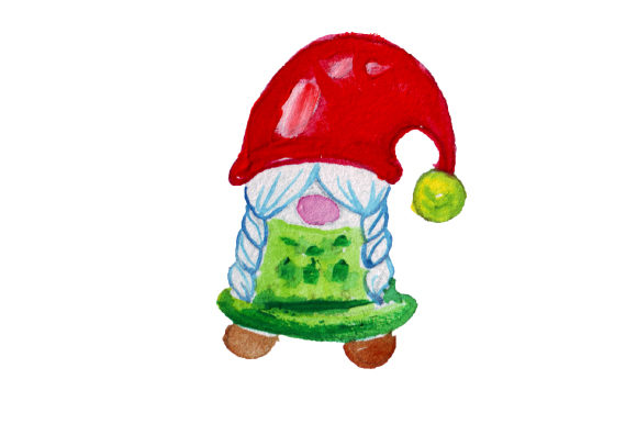 Download Free Christmas Gnome In Gouache Style Svg Cut File By Creative Fabrica Crafts Creative Fabrica for Cricut Explore, Silhouette and other cutting machines.