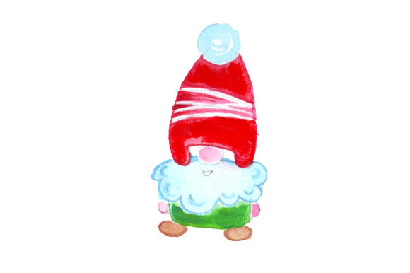 Christmas Gnome in Gouache Style Christmas Craft Cut File By Creative Fabrica Crafts - Image 1