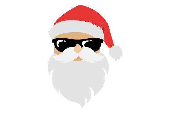 Download Free Santa In Sunglasses Svg Cut File By Creative Fabrica Crafts for Cricut Explore, Silhouette and other cutting machines.