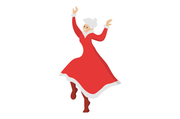 Mrs Claus Dancing Svg Cut File By Creative Fabrica Crafts
