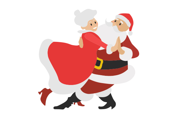 Download Free Santa And Mrs Claus Dancing Together Svg Cut File By Creative for Cricut Explore, Silhouette and other cutting machines.
