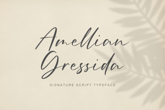 Print on Demand: Amellian Gressida Script & Handwritten Font By Sibelumpagi Studio