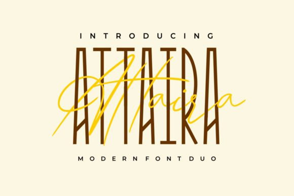 Print on Demand: Attaira Duo Display Font By putracetol