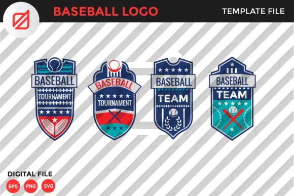 Print on Demand: Baseball Logo Template V3 Graphic Logos By illusatrian