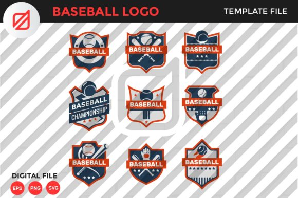 Print on Demand: Baseball Logo Template V5 Graphic Logos By illusatrian