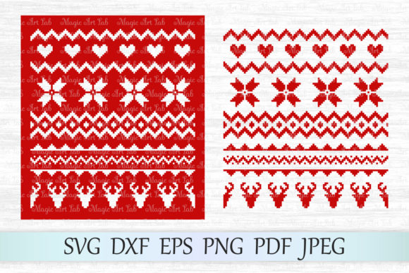 Download Free Christmas Sweater Pattern Graphic By Magicartlab Creative Fabrica for Cricut Explore, Silhouette and other cutting machines.