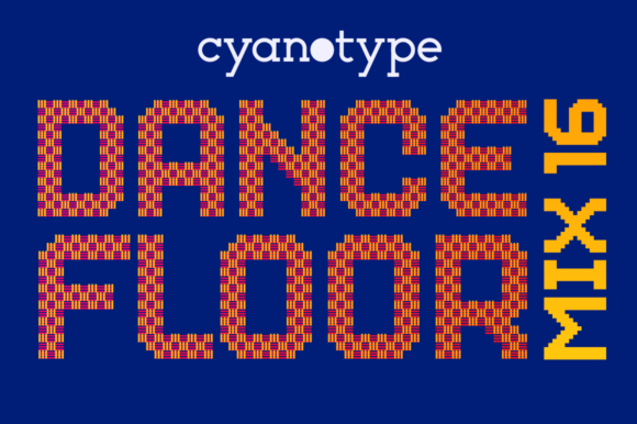 Print on Demand: Dance Floor Mix 16 Display Font By cyanotype