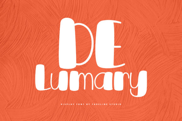 Print on Demand: De Lumary Display Font By FadeLine