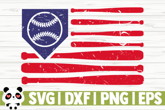 Print on Demand: Distressed Baseball Flag Graphic Illustrations By CreativeDesignsLLC