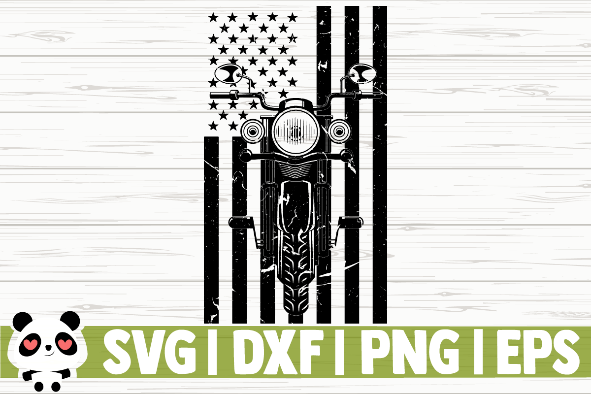 Download Free Distressed Motorcycle Us Flag Graphic By Creativedesignsllc for Cricut Explore, Silhouette and other cutting machines.