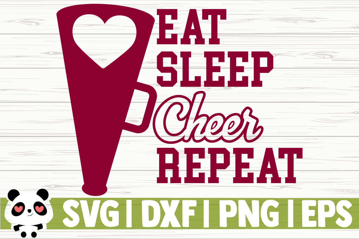 Download Free Eat Cheer Sleep Repeat Graphic By Creativedesignsllc Creative for Cricut Explore, Silhouette and other cutting machines.
