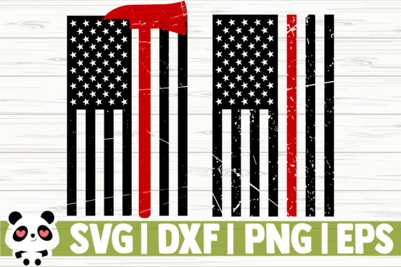 Print on Demand: Fire Dept Thin Red Line Graphic Illustrations By CreativeDesignsLLC