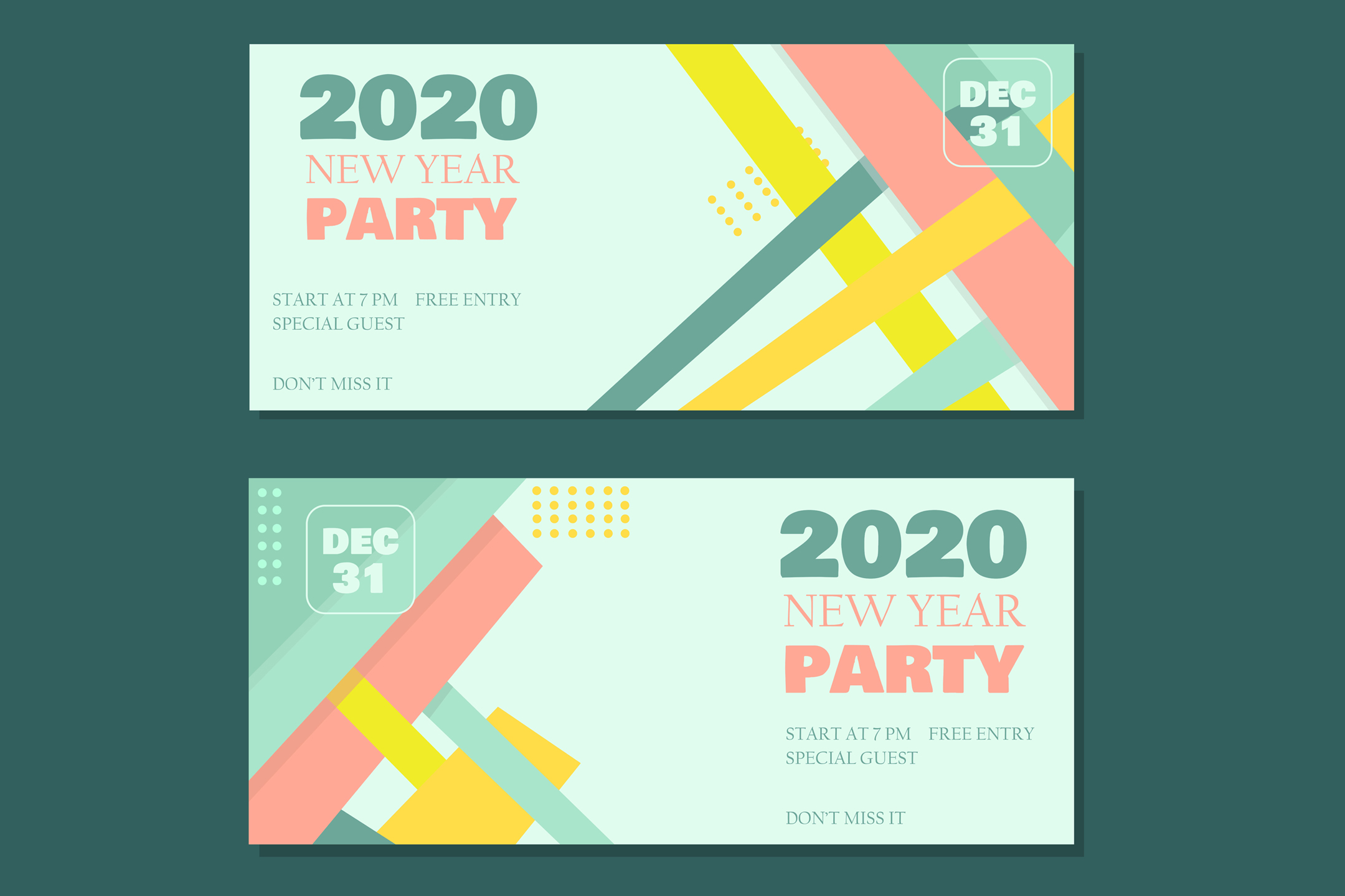 Download Free Flat New Year Party Banner Graphic By Aprlmp276 Creative Fabrica for Cricut Explore, Silhouette and other cutting machines.