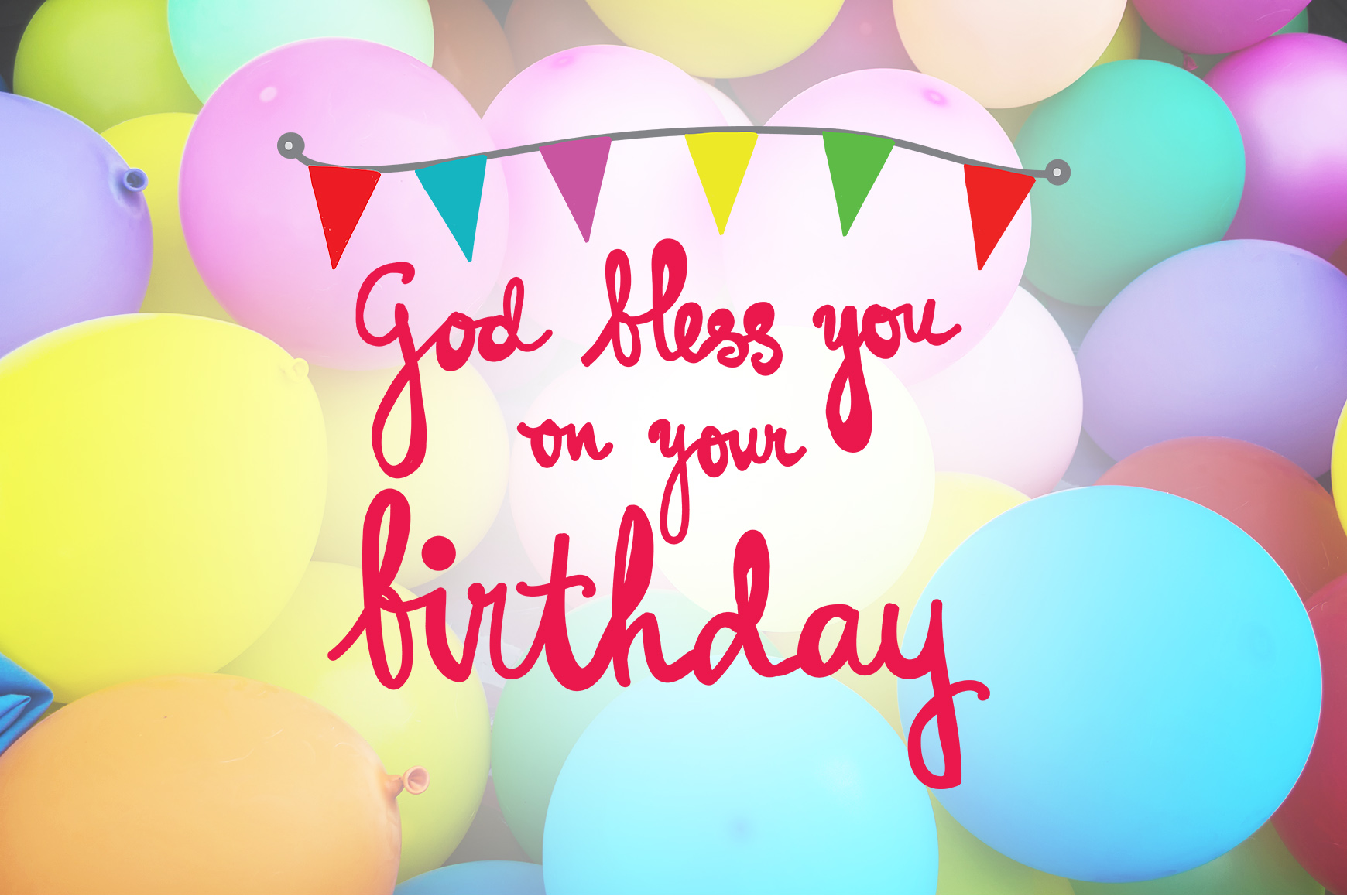 God Bless You On Your Birthday Quotes Graphic By Wienscollection Creative Fabrica