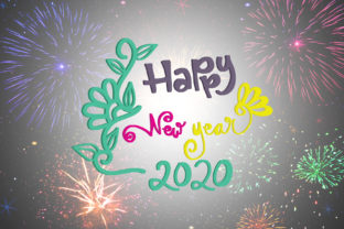 Download Free Happy New Year 2020 Graphic By Wienscollection Creative Fabrica for Cricut Explore, Silhouette and other cutting machines.