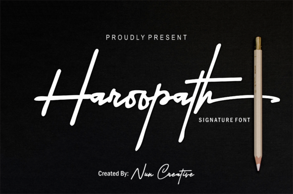 Print on Demand: Haroopath Script & Handwritten Font By Nun Creatype