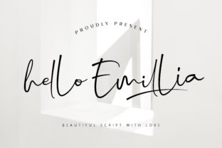 Print on Demand: Hello Emillia Script & Handwritten Font By RochArt