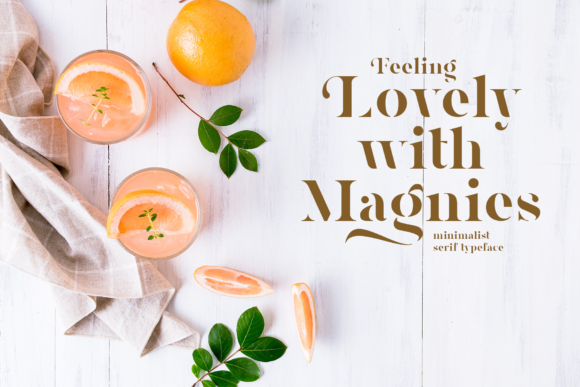 Print on Demand: Magnies Serif Font By Arterfak Project - Image 10