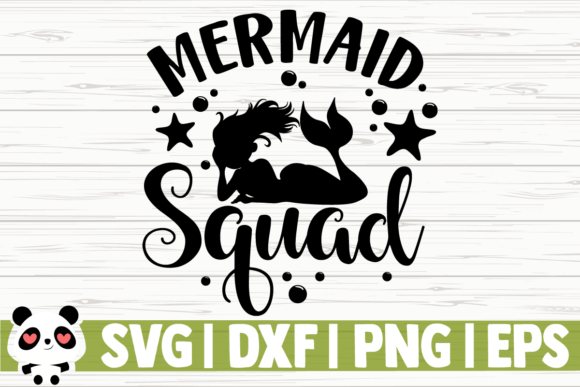 Download Free Mermaid Squad Graphic By Creativedesignsllc Creative Fabrica for Cricut Explore, Silhouette and other cutting machines.