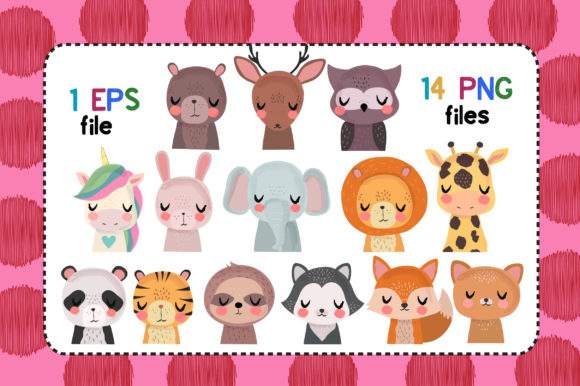 Print on Demand: Peaceful Friends Clipart Set Graphic Illustrations By JM_Graphics - Image 2