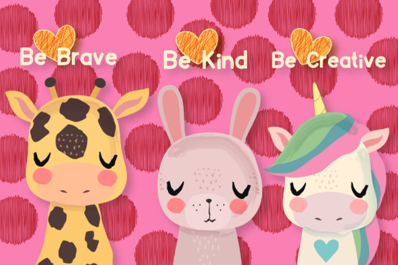 Print on Demand: Peaceful Friends Clipart Set Graphic Illustrations By JM_Graphics - Image 3