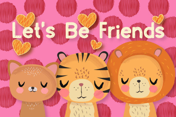 Print on Demand: Peaceful Friends Clipart Set Graphic Illustrations By JM_Graphics - Image 4