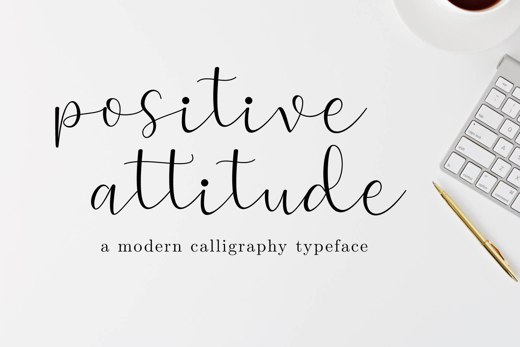 Download Free Positive Attitude Font By Sandylukee Creative Fabrica for Cricut Explore, Silhouette and other cutting machines.