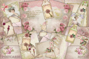 Download Free Shabby Chic Journaling Kit Free Ephemera Graphic By The Paper for Cricut Explore, Silhouette and other cutting machines.