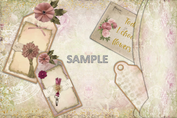 Download Free Shabby Chic Journaling Kit Free Ephemera Graphic By The Paper SVG Cut Files