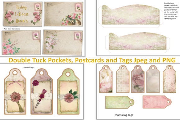 Download Free Shabby Chic Journaling Kit Free Ephemera Grafico Por The Paper for Cricut Explore, Silhouette and other cutting machines.