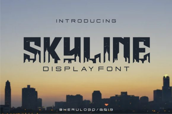 Download Free Skyline Font By Herulogo Creative Fabrica for Cricut Explore, Silhouette and other cutting machines.