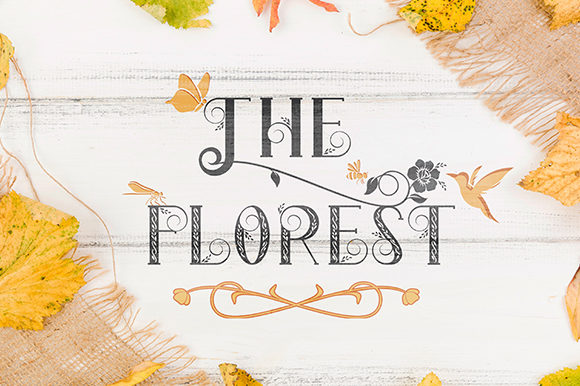 Print on Demand: The Florest Display Font By Black Lotus