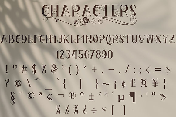 Print on Demand: The Florest Display Font By Black Lotus - Image 12
