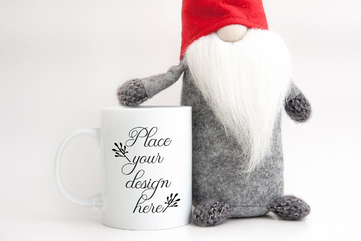 Download Free Winter Christmas Coffee Mug Mockup Graphic By Leo Flo Mockups for Cricut Explore, Silhouette and other cutting machines.