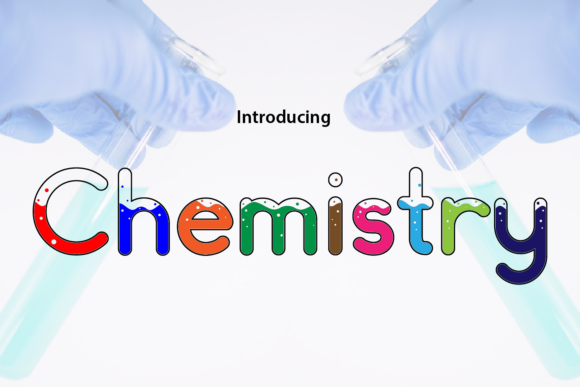 Print on Demand: Chemistry Display Font By da_only_aan