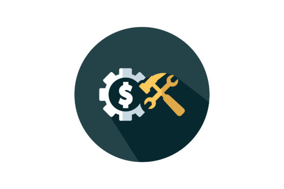 Download Free Dollar With Hammer Icon Vector Graphic By Riduwan Molla for Cricut Explore, Silhouette and other cutting machines.