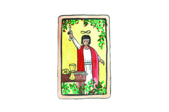Download Free Magician Tarot Card Svg Cut File By Creative Fabrica Crafts Creative Fabrica for Cricut Explore, Silhouette and other cutting machines.
