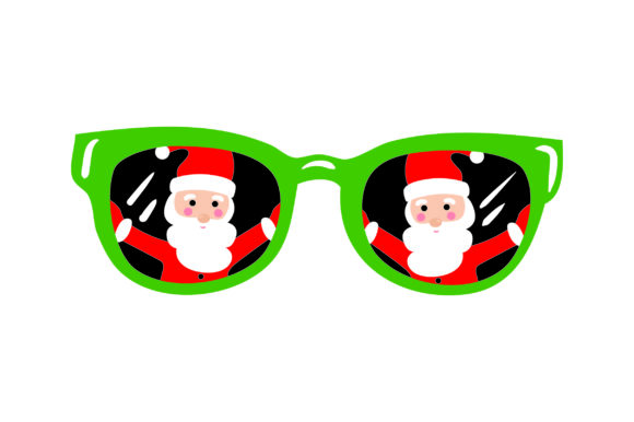 Santa in Sunglasses Christmas Craft Cut File By Creative Fabrica Crafts