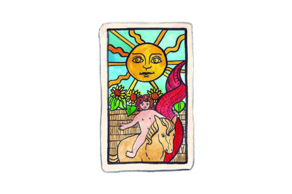 Download Free Sun Tarot Card Svg Cut File By Creative Fabrica Crafts SVG Cut Files