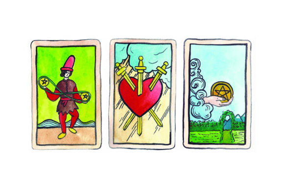 Download Free Tarot Card Spread Svg Cut File By Creative Fabrica Crafts for Cricut Explore, Silhouette and other cutting machines.