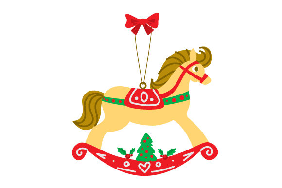 Download Free Rocking Horse Ornament Svg Cut File By Creative Fabrica Crafts for Cricut Explore, Silhouette and other cutting machines.