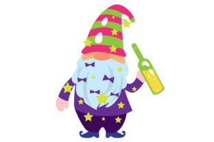 New Years Gnome New Year's Craft Cut File By Creative Fabrica Crafts