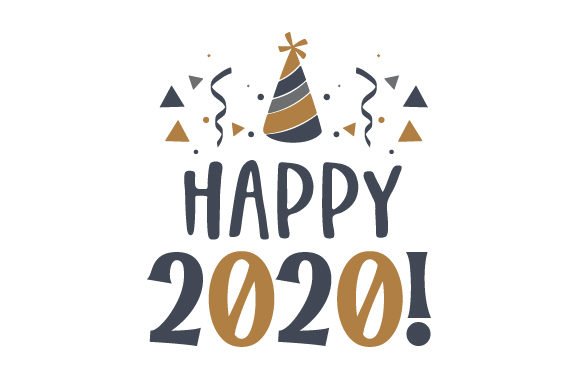 Happy 2020! New Year's Craft Cut File By Creative Fabrica Crafts