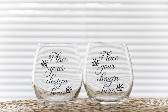Download Free 2 Wine Glasses Tumblers Mockups Graphic By Leo Flo Mockups for Cricut Explore, Silhouette and other cutting machines.