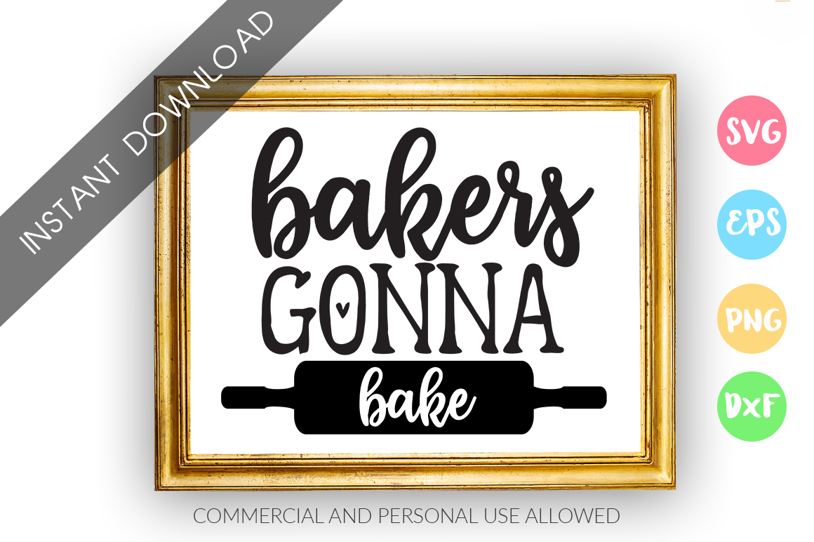 Download Free Bakers Gonna Bake Graphic By Designfarm Creative Fabrica for Cricut Explore, Silhouette and other cutting machines.