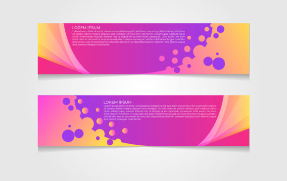 Download Free Banner Design Template Graphic By Ngabeivector Creative Fabrica for Cricut Explore, Silhouette and other cutting machines.