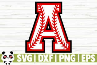 Print on Demand: Baseball Font (Numbers and Letters) Graphic Illustrations By CreativeDesignsLLC