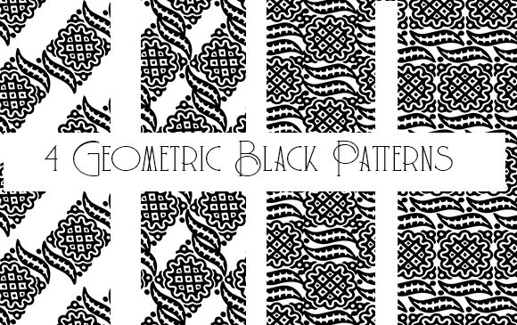 Print on Demand: Black and White Pattern 1 Overlay Graphic Patterns By Kathryn Maloney