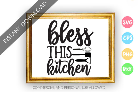 Print on Demand: Bless This Kitchen Graphic Crafts By DesignFarm