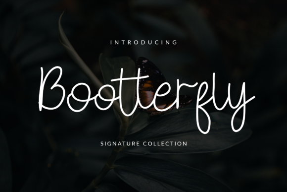 Print on Demand: Bootterfly Script & Handwritten Font By ahweproject